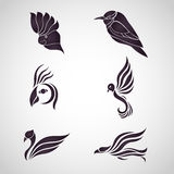 Vecteur d'icône de logo d'oiseau Photo libre de droits