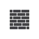 Vecteur d'icône de mur de briques illustration de vecteur