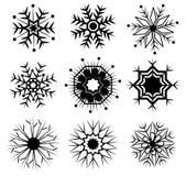 Vecteur d'icône de neige Images libres de droits
