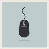 Vecteur d'icône de vintage de souris d'ordinateur Photo libre de droits
