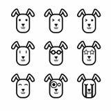 Vecteur d'icône de visage de lapin Photos libres de droits