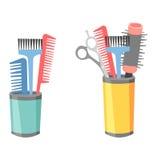 Vecteur d'icônes de coiffeur de coiffeur Photo libre de droits