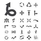 Vecteur d'icônes de flèche illustration stock