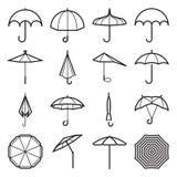 Vecteur d'icônes de parapluie Illustration Stock