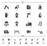 Vecteur d'icônes de pompier illustration stock