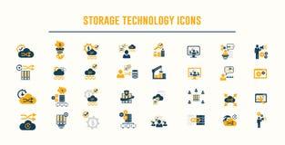Vecteur d'icônes de storage technology Images stock