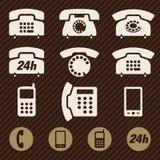 Vecteur d'icônes de téléphone Image libre de droits