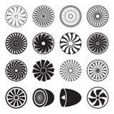 Vecteur d'icônes de turbine Illustration Libre de Droits