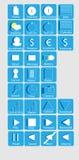 Vecteur d'icônes de web design Photographie stock libre de droits