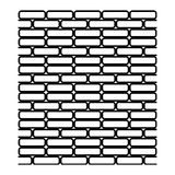 Vecteur d'illustration d'isola noir et blanc sans couture de mur de briques illustration libre de droits