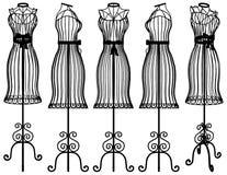 Vecteur d'illustration de cintre de mannequin illustration stock