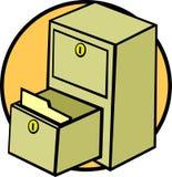 vecteur d'illustration de dépliant de fichier de tiroir de module Image stock