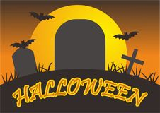 Vecteur d'illustration de Halloween Photos libres de droits