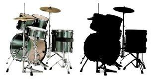 vecteur d'illustration de les deux tambours Image stock