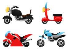 Vecteur d'illustrations de moto Photo stock