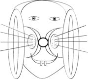 Vecteur d'image de visage sur l'étiquette illustration de vecteur
