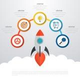 Vecteur 3d Infographic de chronologie Images stock