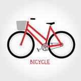 Vecteur d'isolement par bicyclette de croiseur Photos libres de droits