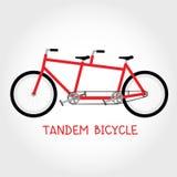 Vecteur d'isolement par bicyclette tandem Photos stock
