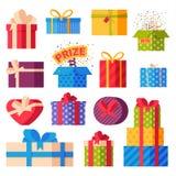 Vecteur d'isolement par boîte-cadeau Photos libres de droits