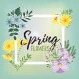 Vecteur d'isolement par fleurs Images stock