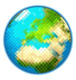 Vecteur d'isolement par globe de la terre de pixel Images stock