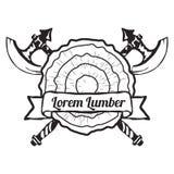 Vecteur d'éléments de conception de label de boutique de bois de charpente Photographie stock