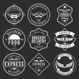 Vecteur d'éléments de label de la livraison express et de conception d'insignes Image libre de droits