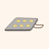 Vecteur d'éléments de thème de module de cuisson de vaisselle de cuisine, ENV Photos stock