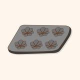 Vecteur d'éléments de thème de module de cuisson de vaisselle de cuisine, ENV Images stock