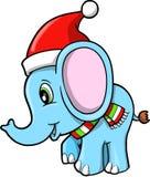 Vecteur d'éléphant de Noël Image stock