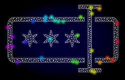 Vecteur 2D Mesh Password Field avec les taches lumineuses colorées par arc-en-ciel illustration de vecteur