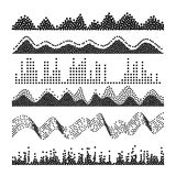 Vecteur d'ondes sonores Melody Sound Wave From Equalizer classique Illustration Photos stock