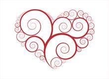 vecteur d'ornement de coeur Photo libre de droits