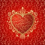 vecteur d'ornement de coeur de fond Photos stock