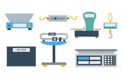 Vecteur d'outil d'instrumentation de mesure de poids Photo stock