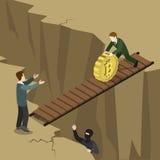 Vecteur 3d plat de crypto de devise de Bitcoin pièce de monnaie de paiement isométrique Photographie stock libre de droits