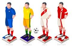 Vecteur d'uniforme du football de coupe du monde Images stock