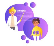Vecteur d'urologue cartoon Art d'isolement sur le fond blanc illustration de vecteur