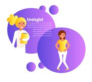 Vecteur d'urologue cartoon Art d'isolement sur le fond blanc plat illustration libre de droits