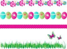 Vecteur décoratif de 4 de ressort frontières de Pâques Images stock