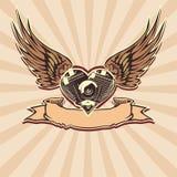 vecteur de 3 motorheart Photos stock