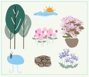 Vecteur de aménagement de jardin de nature Photos libres de droits