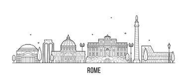 Vecteur de bâtiments de ville de l'Italie d'horizon de Rome illustration de vecteur