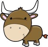 Vecteur de bétail de vache à Bull Images libres de droits