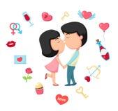 Vecteur de baiser Photo stock