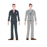 Vecteur de bande dessinée d'usage de costume d'homme d'affaires de style images libres de droits