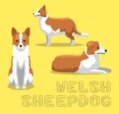 Vecteur de bande dessinée de chien de berger de Gallois de chien illustration stock