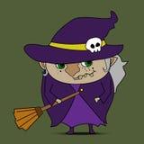 Vecteur de bande dessinée de sorcière illustration de vecteur
