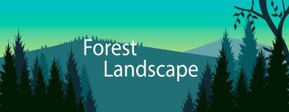 Vecteur de bannière de forêt Photographie stock
